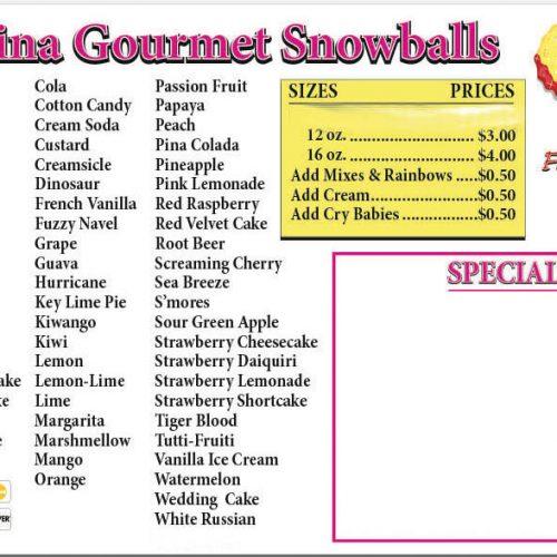 Carolina Gourmet Snowballs